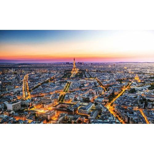 Apusul in Paris - fototapet