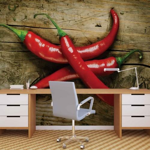 Ardeii iuți roșii - fototapet bucătărie