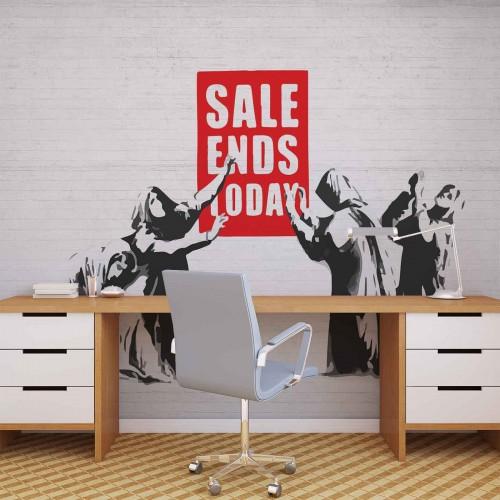 Banksy Graffiti, sale ends today! - fototapet