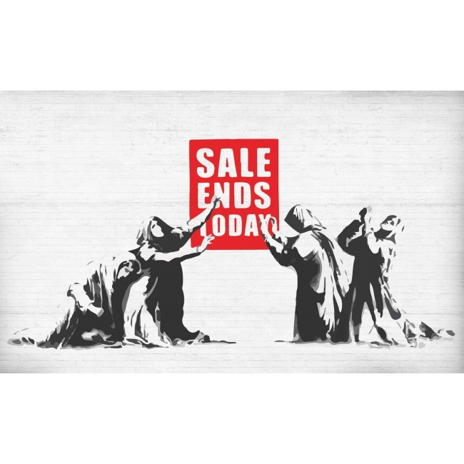 Banksy Graffiti, sale ends today! - fototapet