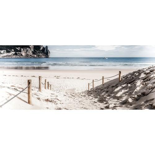 Cararea de nisip pe malul marii - fototapet