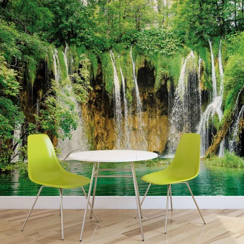 Fototapet cascada și natura