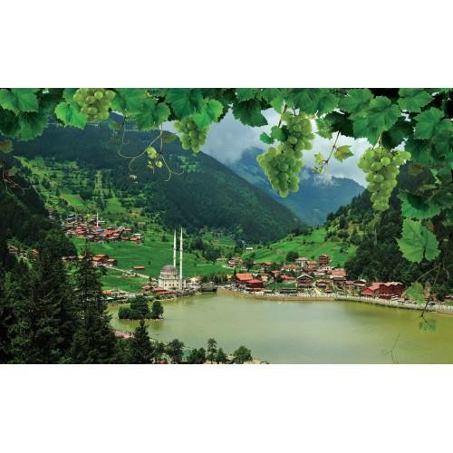 Lacul din munți - fototapet