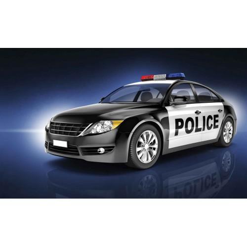 Mașină de poliție - fototapet