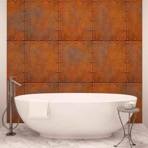 Metal abstract maro-orange - fototapet