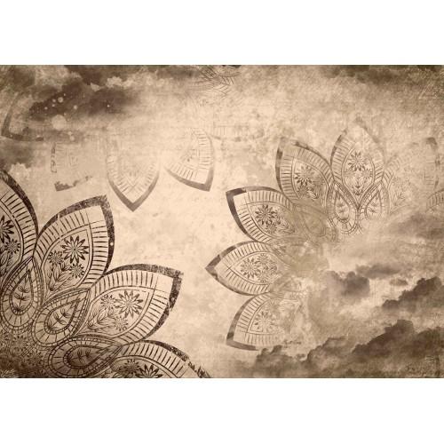 Model abstract modern sepia - fototapet