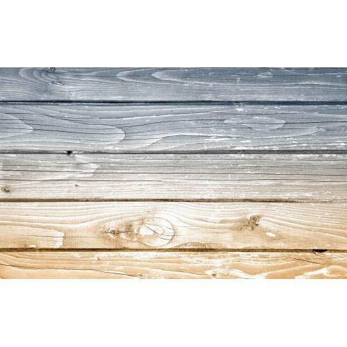 Scânduri de lemn gri-bej - fototapet