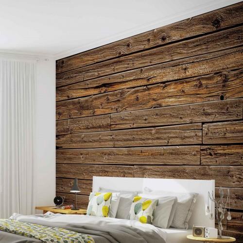 Scanduri maro din lemn - fototapet