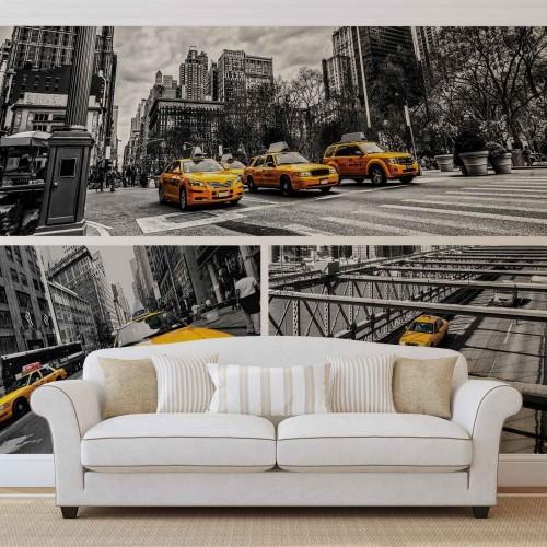 Taxi-ul galben din New York II - fototapet