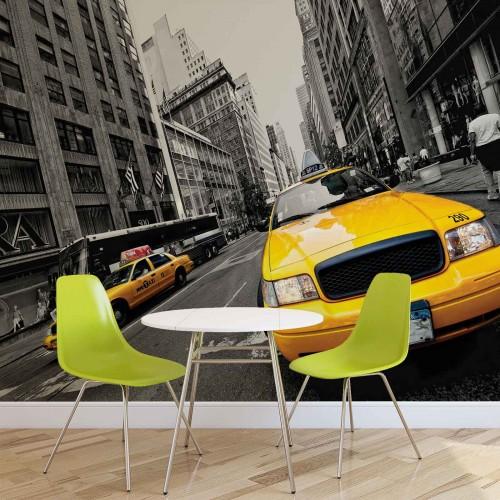 Taxi-ul galben din New York III - fototapet