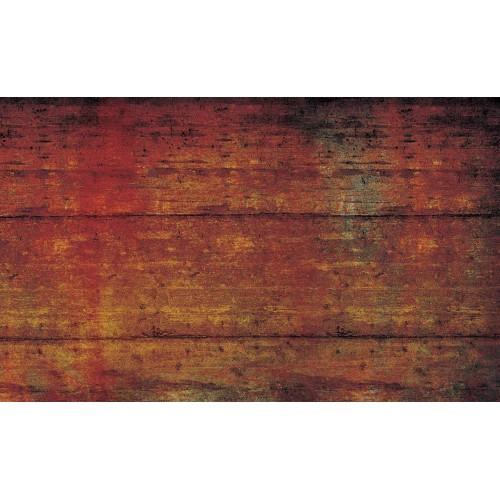 Textura abstracta cărămiziu, cu aspect lemnos - fototapet