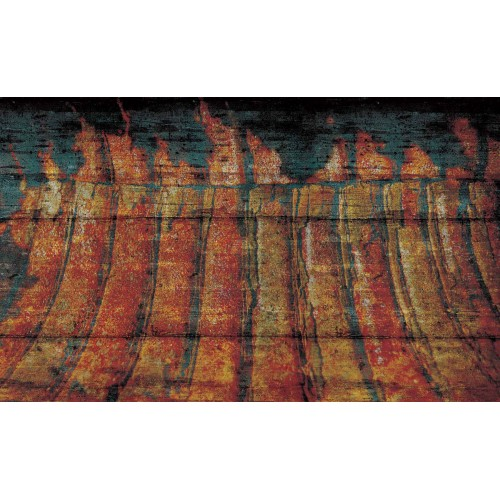 Textura abstracta, cu aspect lemnos - fototapet