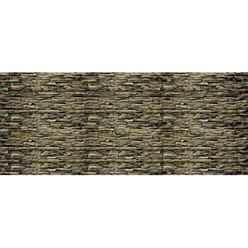 Zid de piatră maro - fototapet