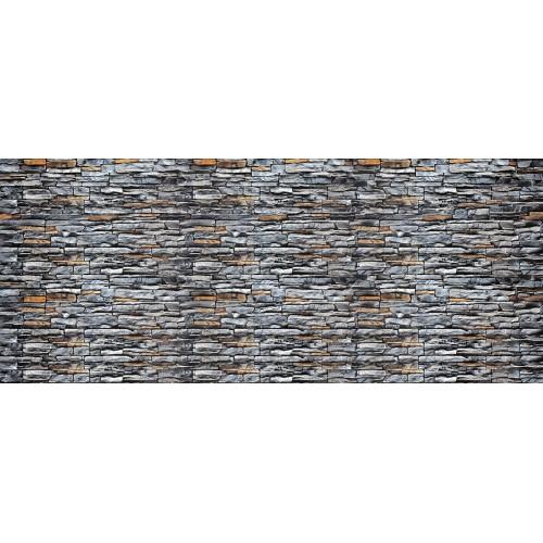 Zid de piatră gri - fototapet