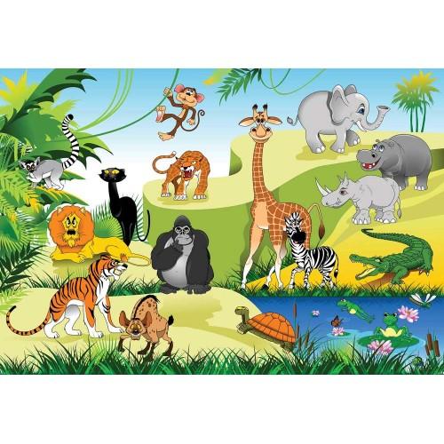 Animale sălbatice - fototapet copii