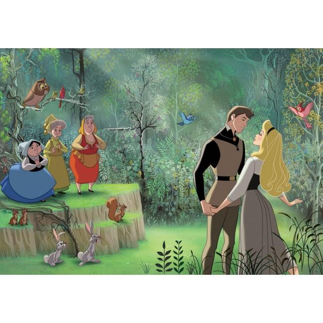 Prințesa Cenușăreasa și Prințul în pădure - fototapet copii