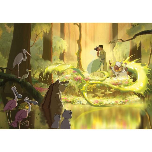 Prinţesa şi Broscoiul în pădure - fototapet copii