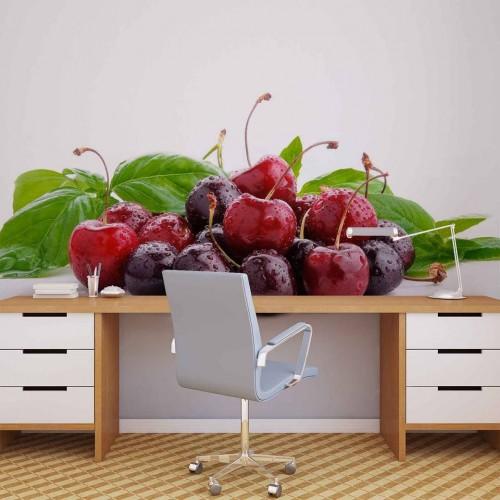 Cireșe gustoase - fototapet bucătărie