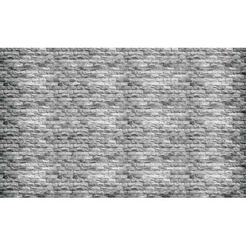 Zid de cărămizi gri - fototapet