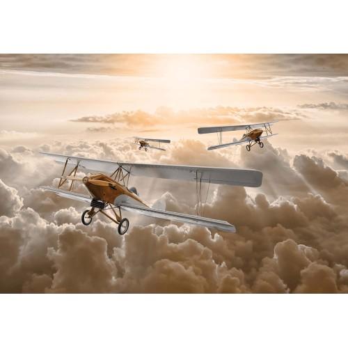Avioane deasupra norilor - fototapet