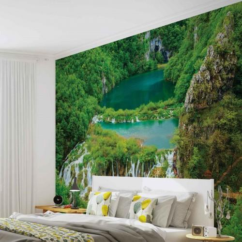 Fototapet cu cascade și lacuri