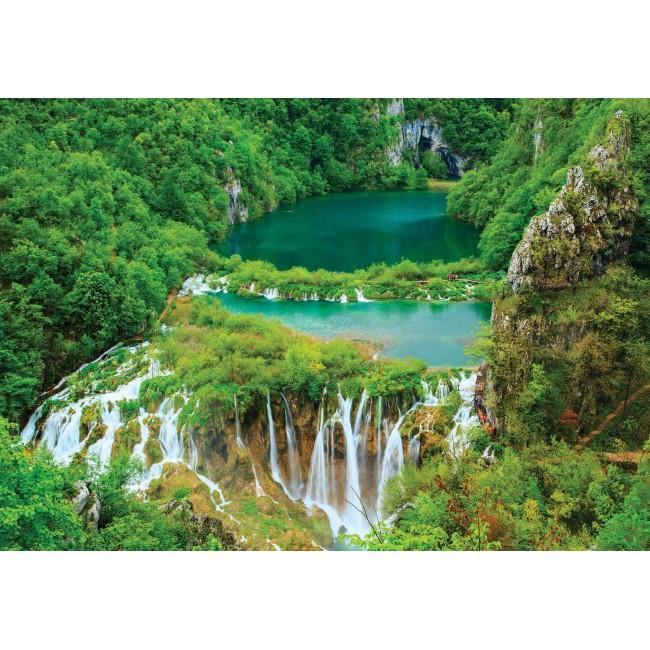Cascade și lacuri - fototapet