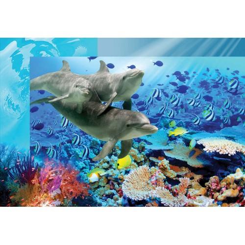 Delfini plutitori - fototapet