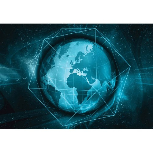 Harta lumii modern 3D - fototapet