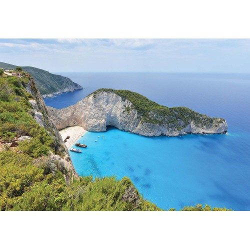 Plaja Navagio, insula Zakynthos - fototapet