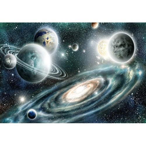 Planete în spațiu - fototapet