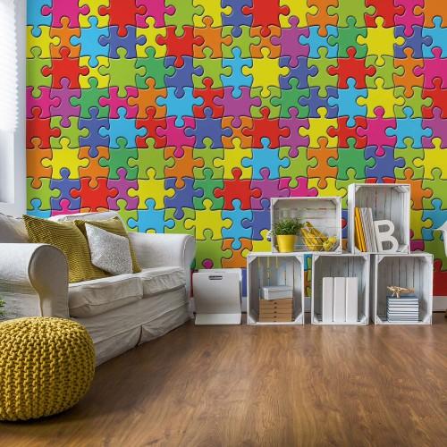 Puzzle colorat - fototapet
