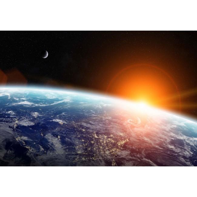 Răsăritul Soarelui deasupra Pământului - fototapet
