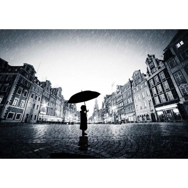 Singur în ploaie - fototapet
