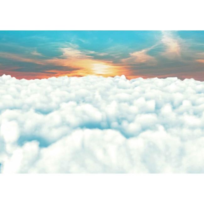 Apus de soare in nori - fototapet