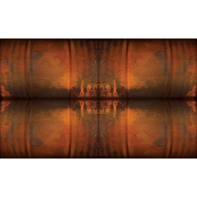 Arta abstracta maro-oranj - fototapet