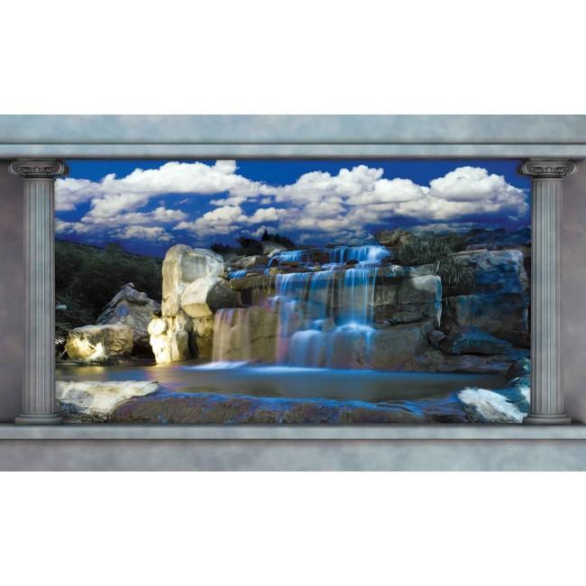 Cascada albastra - fototapet