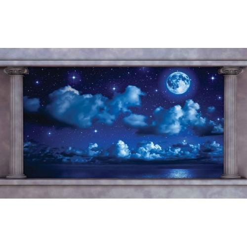 Cerul albastru, noaptea - fototapet