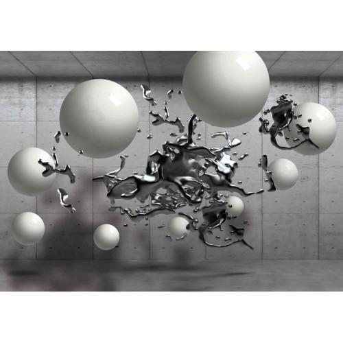 Design abstract monocrom - fototapet