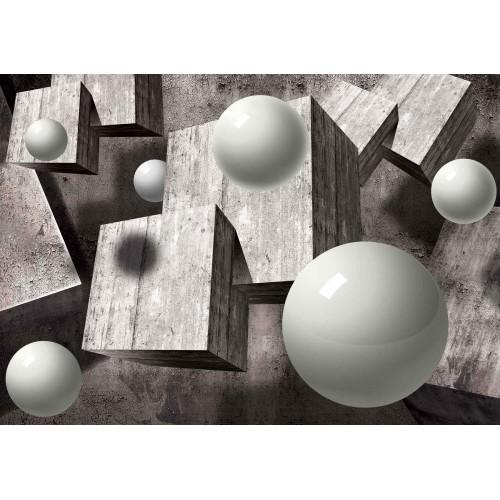 Fototapet 3d, design abstract monocrom, geometrie