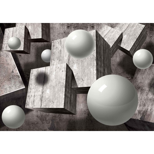 Design abstract monocrom, geometrie - fototapet