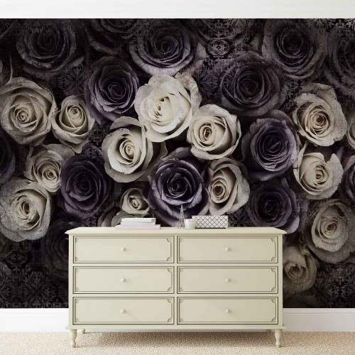 Design floral color - fototapet