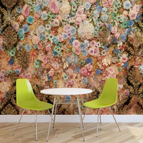 Design floral color II - fototapet