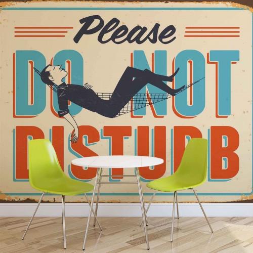 Do not disturb, retro - fototapet