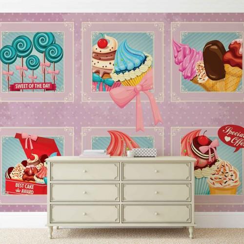 Dulciuri retro - fototapet bucătărie