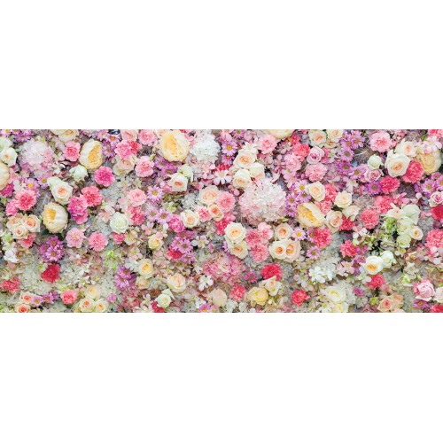 Flori in tonuri pastel - fototapet