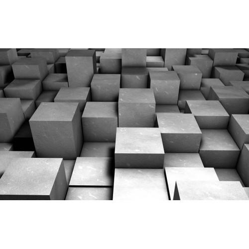 Forme geometrice in gri - fototapet
