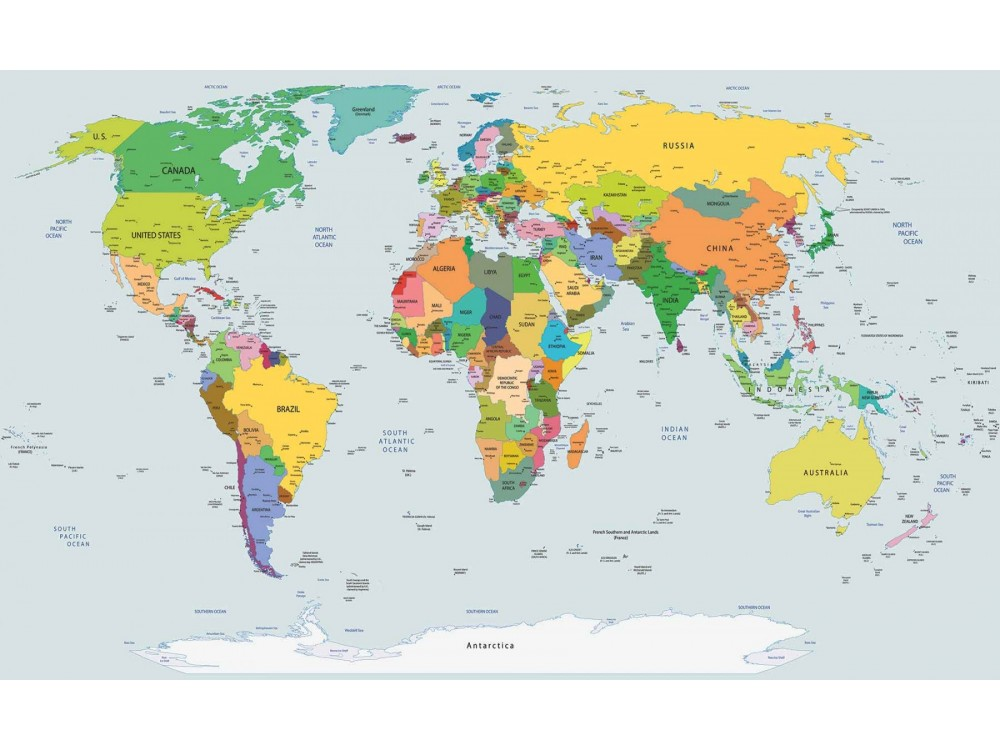 Harta Lumii Color Fototapet