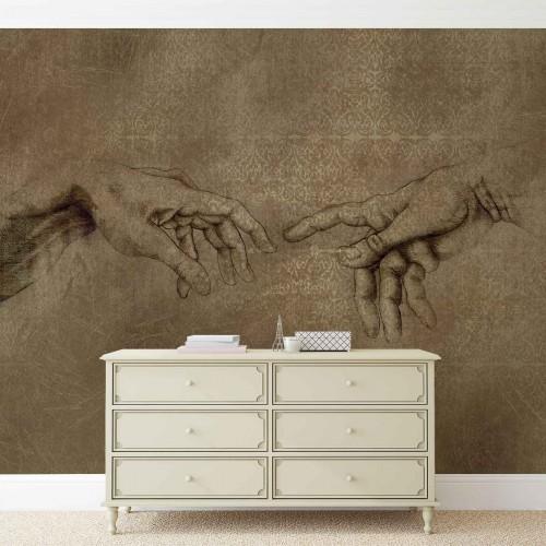 Michelangelo, crearea lui David - fototapet