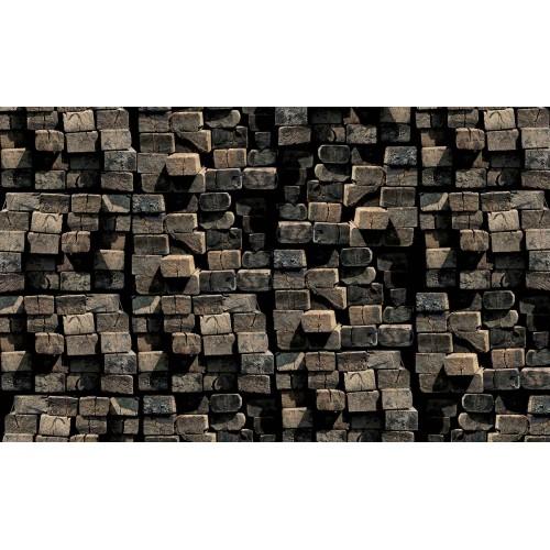 Scanduri de lemn - fototapet
