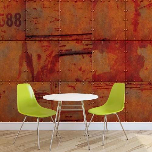 Textura metalica pe perete - fototapet